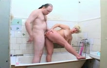 Blonde mature hoe fucked in the bathroom