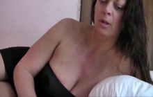 Big boobed mom on webcam