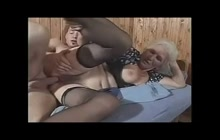 Hairy grandma banged hard by younger boy