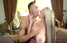Voluptuous cougar fucked by a stud