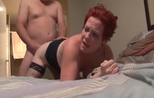 Mature hooker takes cock in her asshole
