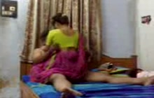 Indian amateurs making a sex tape