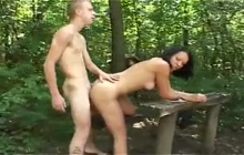 Anal fucking in the woods