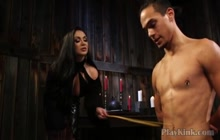 Bigtitted Milf Playing With Bound Guy in Bdsm Porn
