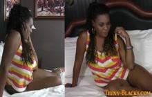 Ebony babe gets licked and fucked
