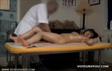 Cute Japanese fingered by masseur