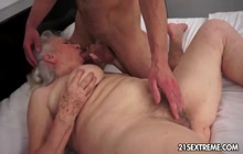Sex with horny granny in hotel room