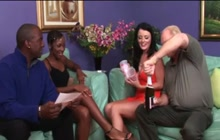 Interracial Swingers Foursome
