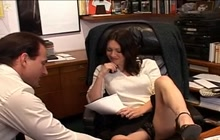 Lady boss gets nailed after interview