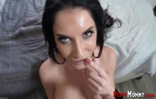 Stepmother gets plowed for cum in mouth