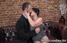 Old granny tit fucking and riding