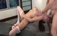 Layla loves pissing and ass fucking
