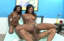 Rane and Monica share a fat black cock