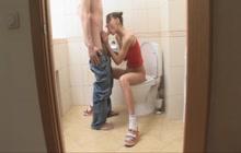 Cute teen fucked in toilete