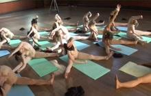 Sensual nude yoga