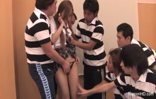 Japanese schoolgirl fucked and creampied