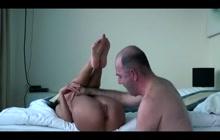 Hot brunette loves intense oral sex
