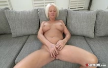 Breasty old slut worshipping a fresh cock
