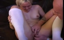 Teenie gets fingered and spanked