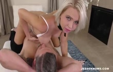 Rough fucking makes blonde slut horny
