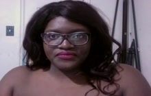 Ebony BBW on webcam