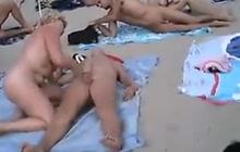 Public fucking on a beach