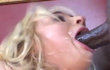 Kelly Wells yells for black cock